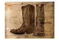Sketched Boots Fine Art Print