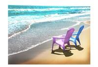 Bright Adirondak chairs right 1 Fine Art Print