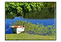 Country Pond Row Boat Fine Art Print