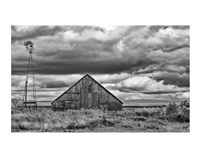 Windmill and Barn Fine Art Print