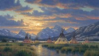 Blackfeet Of The Rockies Fine Art Print