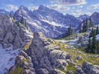 Precipices And Peaks Fine Art Print