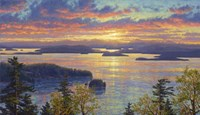 Sunset Over The San Juan Islands Fine Art Print
