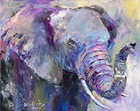 Blue Elephant Fine Art Print