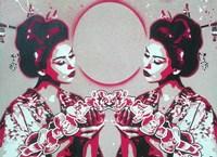 Mirror Geisha Fine Art Print