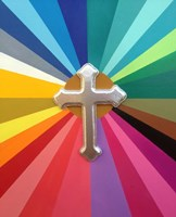 Rainbow Cross Fine Art Print