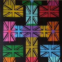 Union Jack Cross Fine Art Print