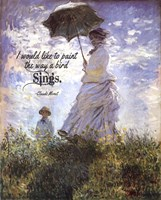 Monet Quote Madame Monet and Her Son Fine Art Print