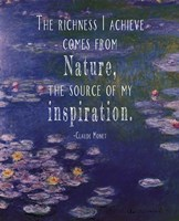 Monet Quote Waterlilies at Giverny Fine Art Print