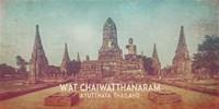 Vintage Wat Chaiwatthanaram, Thailand, Asia Fine Art Print
