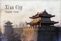 Vintage Xi'an City, China, Asia Fine Art Print