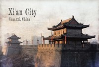 Vintage Xi'an City, China, Asia Framed Print