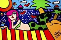 Mermaid On The Beach Fine Art Print