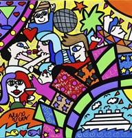 Miami Party Scene Fine Art Print