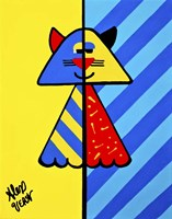 Art Deco Cat Fine Art Print