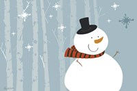 Happy Snowman Fine Art Print