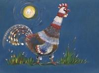 Coq A L'aube Fine Art Print