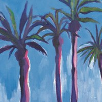 Palm Trees Morocco with Pink Fine Art Print