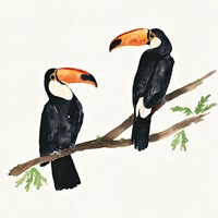 Tropical Fun Bird I Fine Art Print