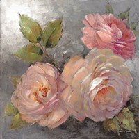 Roses on Gray II Fine Art Print
