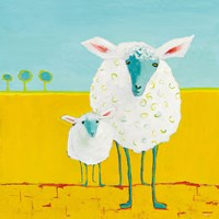 Mama and Baby Sheep Fine Art Print