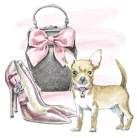 Glamour Pups I Fine Art Print