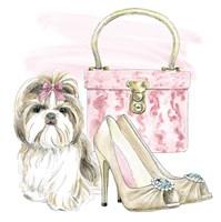 Glamour Pups II Fine Art Print