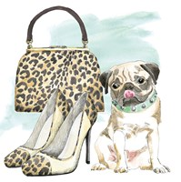 Glamour Pups IV Fine Art Print