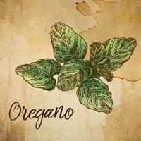 Oregano on Burlap Fine Art Print