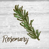 Rosemary on Wood Fine Art Print