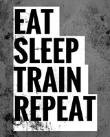 Eat Sleep Train Repeat Fine Art Print