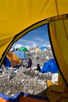 Tents of Mountaineers , Mt Everest, Nepal Fine Art Print