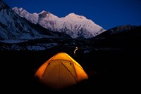 First Light on Mt Everest From the Kangshung, Tibet Fine Art Print