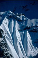 Close-up of Glacier at Chomolonzo, Tibet Fine Art Print