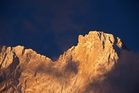 Chomolonzo Summit at Sunrise, Tibet Fine Art Print
