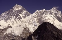 Mt. Everest seen from Gokyo Valley, Sagarnatha National Park, Nepal. Fine Art Print
