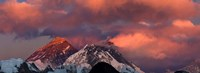 Snowcapped Mountain Peaks, Mt Everest, Himalayas Fine Art Print