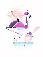 Placido Flamingo Fine Art Print