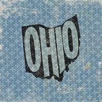 Ohio on Pattern Fine Art Print