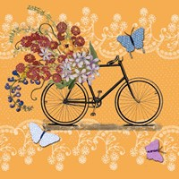 Flower Market Bicycle Fine Art Print