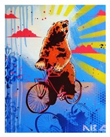 Bear Back Rider Fine Art Print