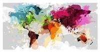 Colourful World Map Fine Art Print
