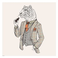 Tiger-man Fine Art Print