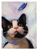 Cat and Butterfly Fine Art Print