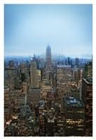 New York View by Night Fine Art Print