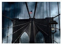 Stars and Stripes on Brooklyn Bridge Fine Art Print