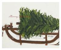 Merry Christmas Tree Fine Art Print