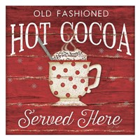 Hot Cocoa Served Here Fine Art Print