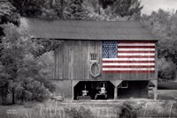 Patriotic Farm I Fine Art Print