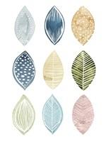 Patterned Leaves I Fine Art Print